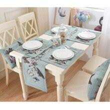 Esteras de mesa de decoración de boda para el hogar con bandera de Mesa Verde de comedor de Jacquard de 33x180 cm cubre