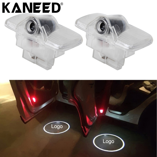 kaneed for renault koleos car logo door light led logo light 3d shadow  projector car door courtesy welcome lighting lamp