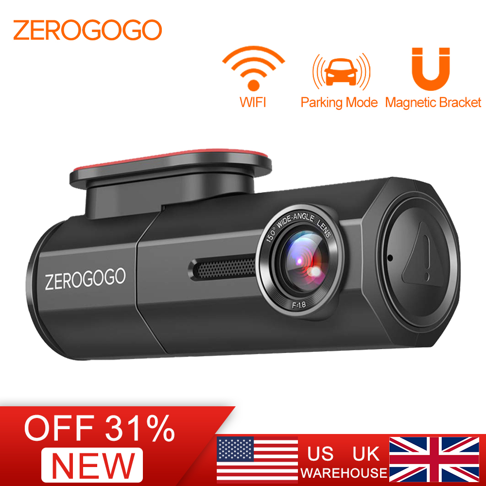 ZEROGOGO DVR Mini Dash Cam Wifi Car DVR Full HD 1080P Camera Auto Recorder for Car Night Vision Novatek 150 Degree G-Sensor luces led de policía