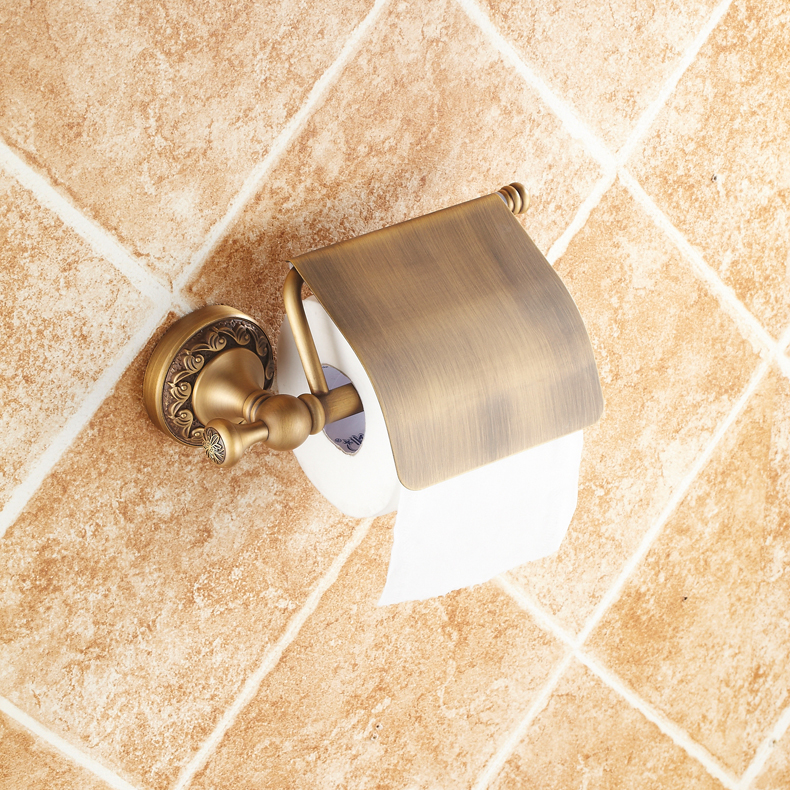 2017 Bathroom Banyo Aksesuarlari Copper Limited Sale Accessories For Toilet Paper Holder Towel Hanging Rustic Hardware Carved luxury abs chrome plated toilet paper holder roller rectangle convenience durable wc bathroom accessories high quality vt606 z4