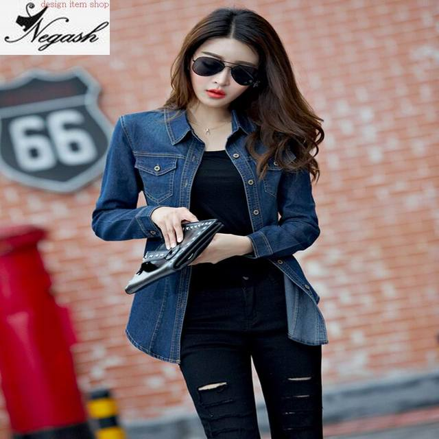 High quality fashion Plus Size Denim Shirt Women Clothing Design ...