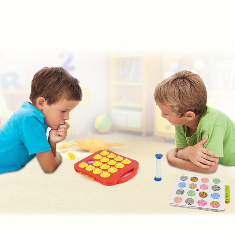 Children Toys Memory Training Matching Pair Game Interactive Parent Child Link Up Chess Kids Early Education Toy Gift A S7JN image
