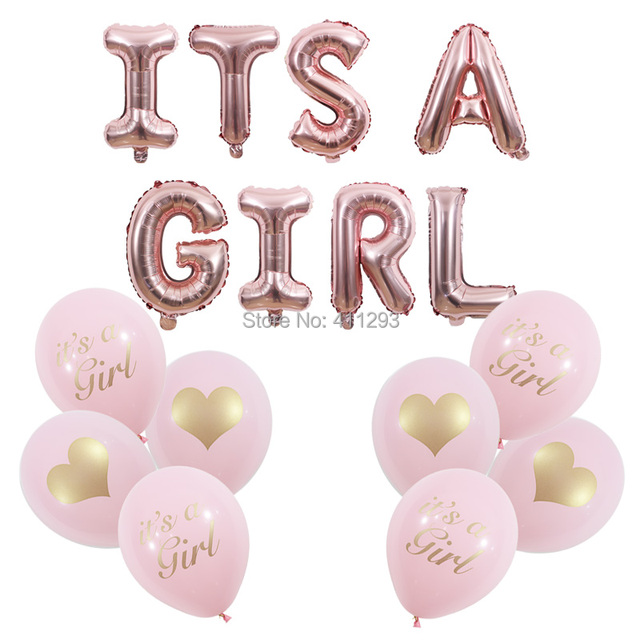 its a girl balloon pink girl shower balloons rose gold its a girl banner baby shower decorations girl shower balls