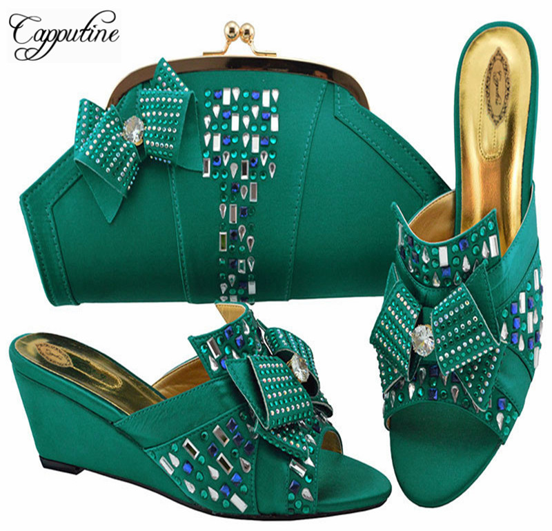 Fashion Italy Woman Shoes And Matching Bag Set Summer Style High Heels Shoes And Bag Set For Wedding African Slipper Shoes M1072 набор подарочных коробок veld co цветение дикой сливы круглые 5 шт 67674