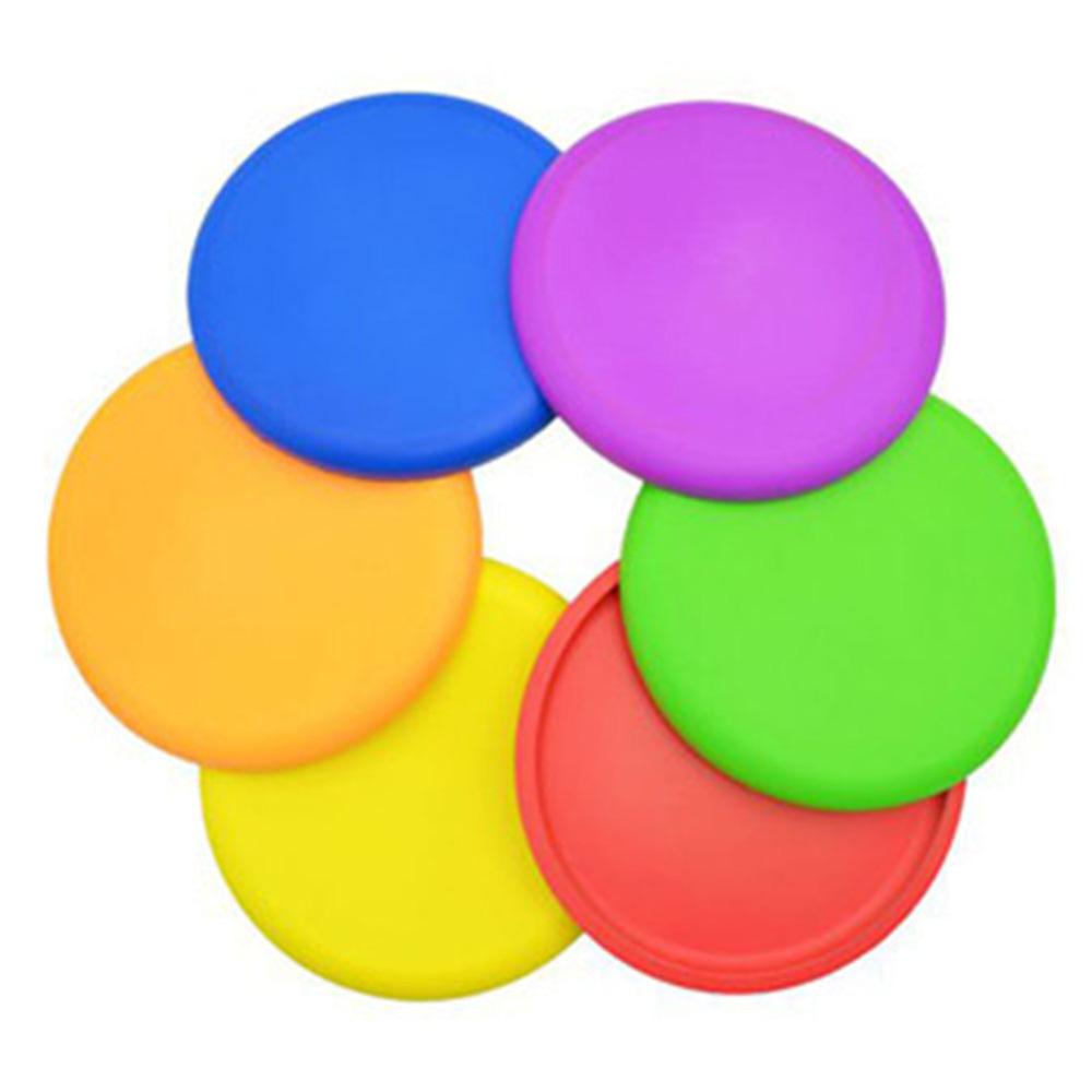 colorido disco volador suave flexible nios al aire libre divertido traiga juguete divertido frisbee silicona deportes