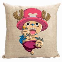כיסוי כרית חתיכה אחת, חמוד קריקטורה ואנימציה יפנית חתיכה אחת קוף D לופי טוני טוני ופר לזרוק כרית כיסוי