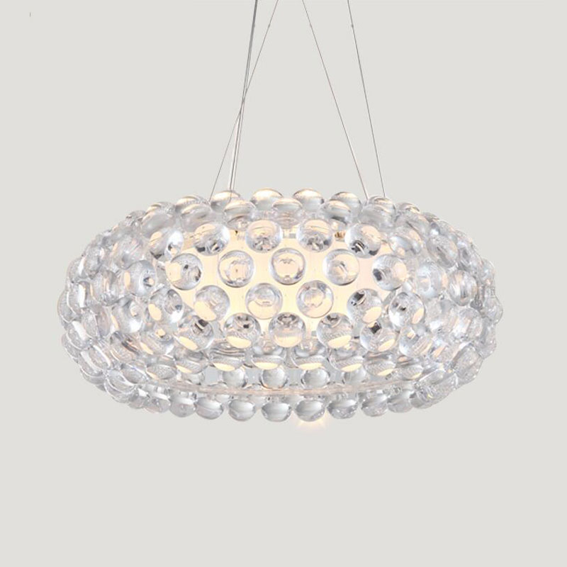 Modern Nordic Dining Room Caboche Pendant Lights Glass Hanging lamps for living room Restaurant lampara colgante de techo E27