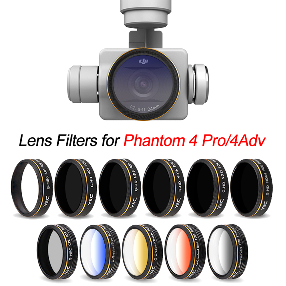 Multi Coating UV ND4 ND8 ND16 CPL Circular Polarizing Neutral Density Lens Filter for DJI Phantom 4 Pro V2.0 Advanced Drone