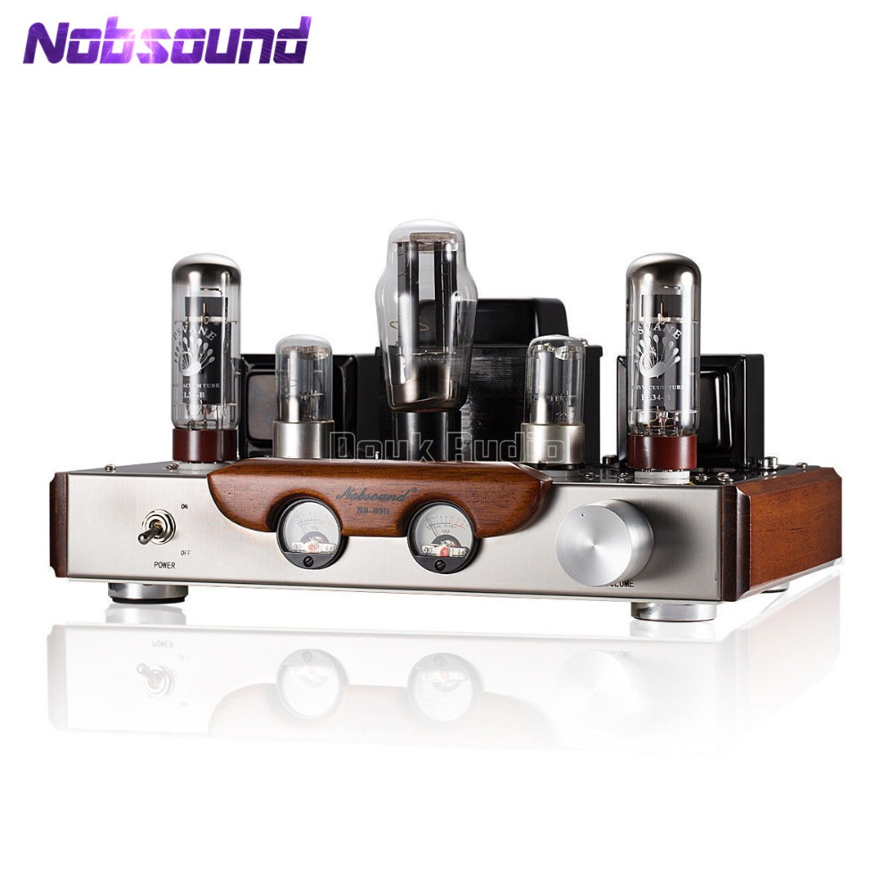 2018 Latest Nobsound EL34 Valve Tube Amplifier Stereo Hi-Fi Single-ended Class A Power Amp High-end Brushed Metal Panel Amp