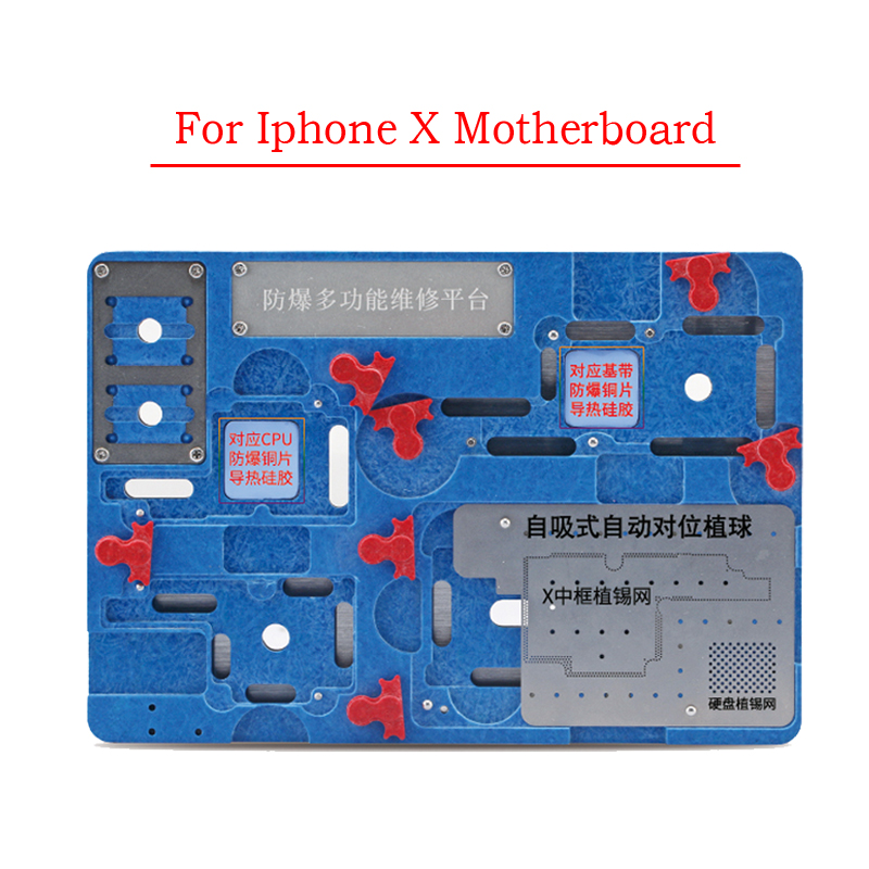 Multi-functional Circuit Board PCB Holder for iPhone X Motherboard A11 IC Chip Repair Tools Kit hot plcc ic chip extractor motherboard circuit board component puller tool