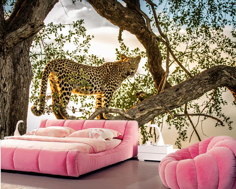 Big Sofa Fawn Papel De Parede Big Cats Leopards Animals Photo 3d Wallpaper Living Room Bedroom Sofa Tv Backdrop Bar Cafe Wall Paper Home Decor In Wallpapers From