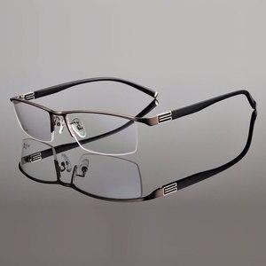 Image 5 - إطار نظارة من سبيكة التيتانيوم Reven Jate بحافة أمامية مع أذرع معبد مرنة إطار نظارات شبه بدون إطار مع 3 ألوان اختيارية