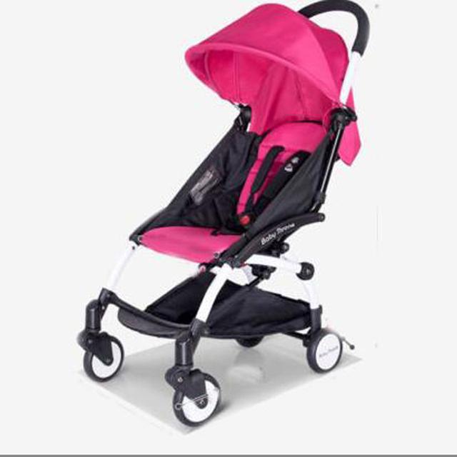 Mini Sistema de Viaje pequeño Cochecito de bebé carro Cochecito De Bebé De Lujo de una sola llave plegable