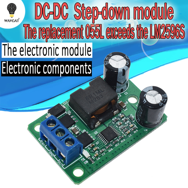 24V/12V To 5V/5A 25W DC-DC Buck Step Down Power Supply Module Synchronous Rectification Power Converter