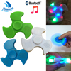 Fidget Hand Spinner With Built In LED Tri Finger Spinning Top Decompression Finger Bluetooth Portable Wireless