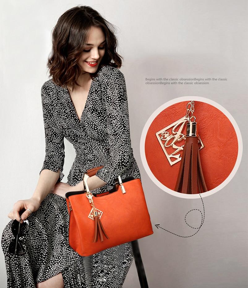 Nevenka Brand Design Women Luxury Handbags Female Tassel Sequined Messenger Bag Quality Leather Tote Solid Zipper Evening Bags03