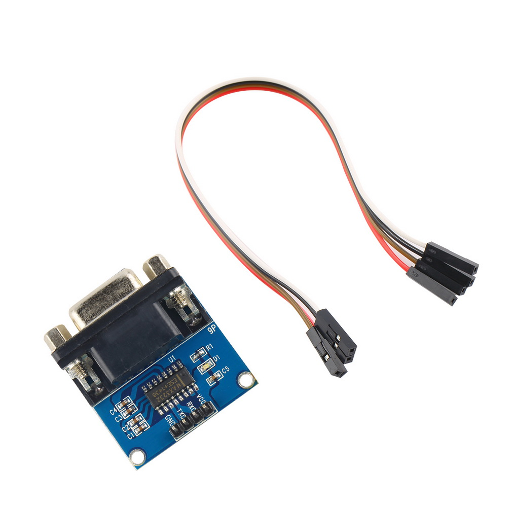 1 pcs MAX3232 RS232 Serial Port To TTL Converter Module DB9 Connector With Cable Drop Shipping