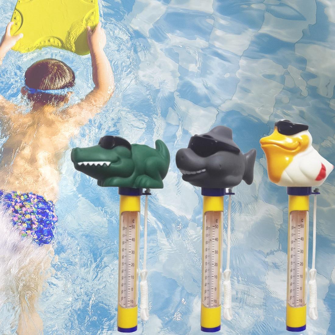 Thermomètre flottant Animal mignon pour toutes les piscines extérieures et intérieures Spas/bains à remous thermomètre capteur d'eau de piscine