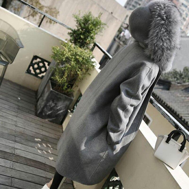 largo lana Abrigo semana