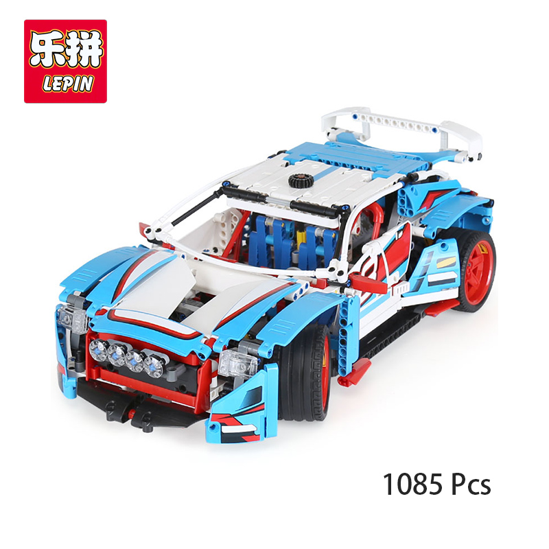 Lepin 20077 Genuine 1085 Pcs Technic Series The Rally Car Compatible With lego 42077 Building Blocks Bricks Birthday Gifts lepin 20077 genuine technic series the rally car set 42077 building blocks bricks educational funny toys as children gifts