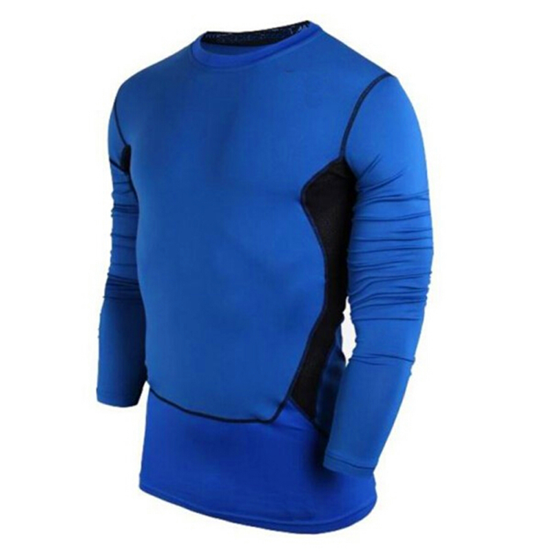 Cozy Mens Compression Base Layer Sports Wear Long Sleeve Blouse Athletic Tops Gear Jersey W01