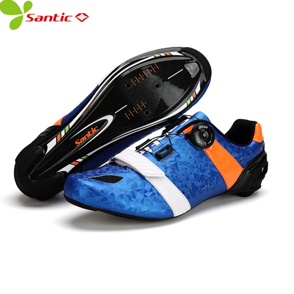 SANTIC auto-lock cycling shoes breathable ultralight bicycle carbon fiber soles cycling sneakers off road bike sports mtb shoes free shipping breathable athletic cycling shoes road bike bicycle shoes nylon tpu soles for road racing mtb eur35 39 us3 5 7