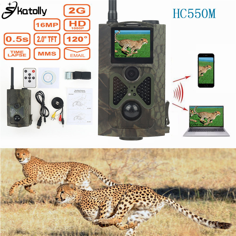 Skatolly HC550M infrared font b Hunting b font Camera Full HD16MP 1080P Video MMS GPRS Sensor