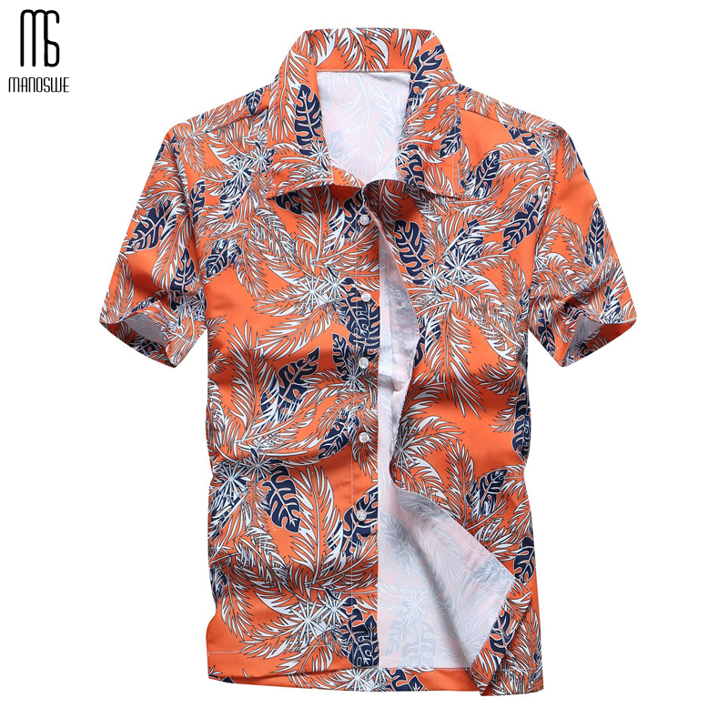 Summer Men Plaid Shirts Short Sleeve Turn Down Collar Blouse Casual Tops Print Clothes Plus Size XXXXXL