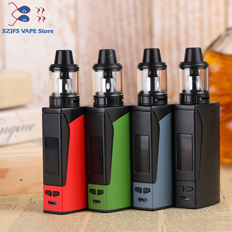 100W Vape Kit LED Screen With USB Charger 3000mah Bulit-in Battery High Quality Vaporizer Vape Huge Vapor Electronic Cigarette