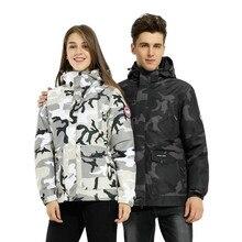 3in1 2018 Brand Winter Jacket women camouflage Waterproof Outdoor Sport Men's Coat Warm Camping Trekking Skiing Hiking Jackets недорого