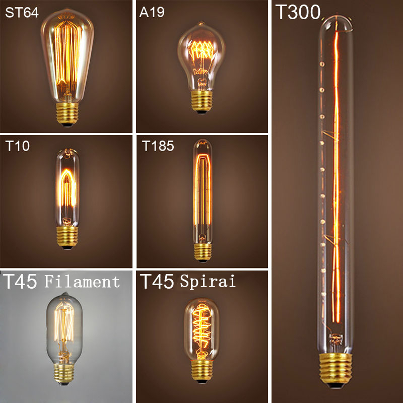 Incandescent Light Bulb 220v Retro Lamp ST64 Vintage Edison Bulb E27 Holiday Lights 40w Incandescent Lamp Edison Light Bulb
