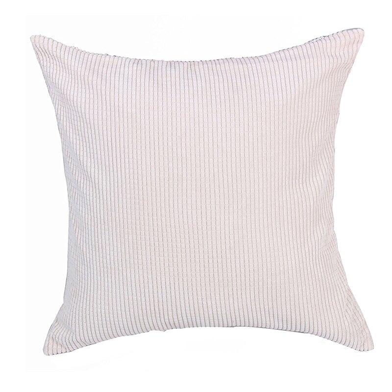 Corn Kernels Wick Cotton Square Home Decor Throw Sofa Car Cushion Cover Pillow Case 65*65cm white