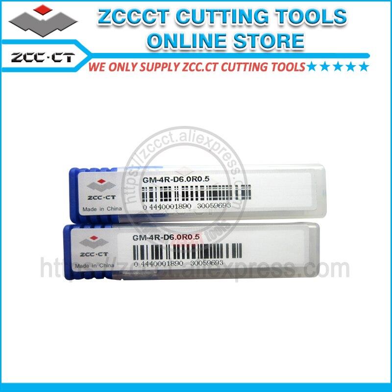 10pcs GM 4R D6 0R0 5 50HRC ZCC milling cutter ZCC CT 4 flutes 6mm r0