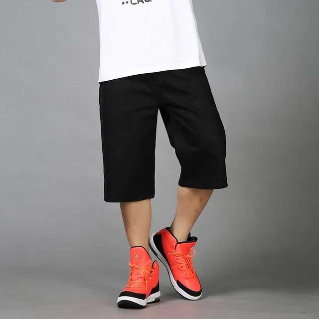 Summer Loose Baggy Denim Short Men Hip Hip Jeans Short 3/4 Length Boardshort Male Clothing Plus Size