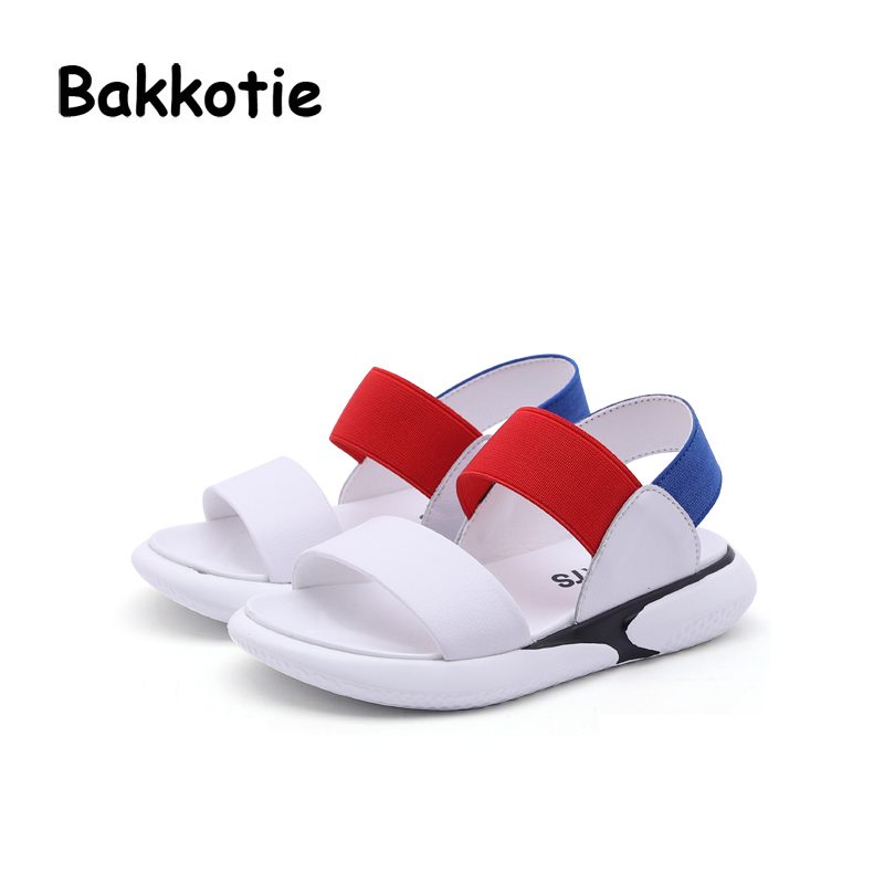 Bakkotie 2018 Summer New Baby Boy Fashion Beach Sandal Children Sport White Flats Toddler Brand Mesh Girl Soft Casual Shoes Kid bakkotie 2017 new autumn baby boy casual shoes khaki genuine leather black kid girl brand flat shoes soft sole breathable child