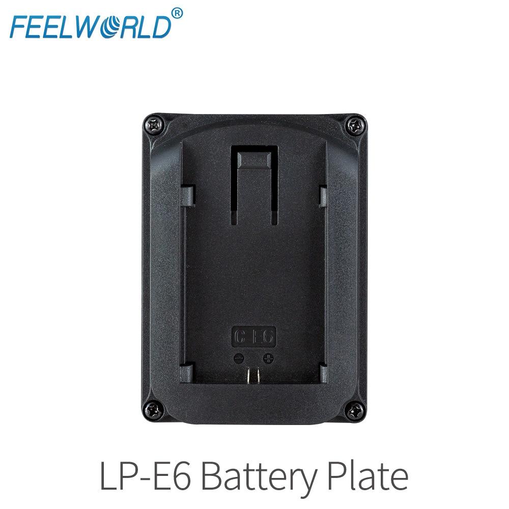 Canon LP-E6 Battery Plate For Camera Field Monitor Feelworld F570 T7 T756 FW703 FW760 FW759 A737 Etc Video Camera Monitors