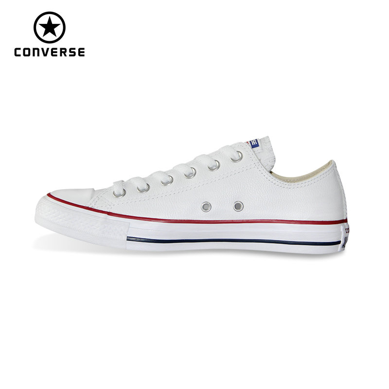 New Chuck Taylor pu leather original Converse all star  men women sneakers  low classic Skateboarding Shoes 132173C