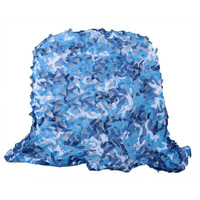 8M*8M blue camouflage netting army camo mesh netting for sun shelter theme party decoration bar decoration cafe decoration
