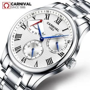 Image 1 - Часы наручные Seiko мужские механические, брендовые Роскошные с автоматическим движением t Carnival, с ремешком из нержавеющей стали