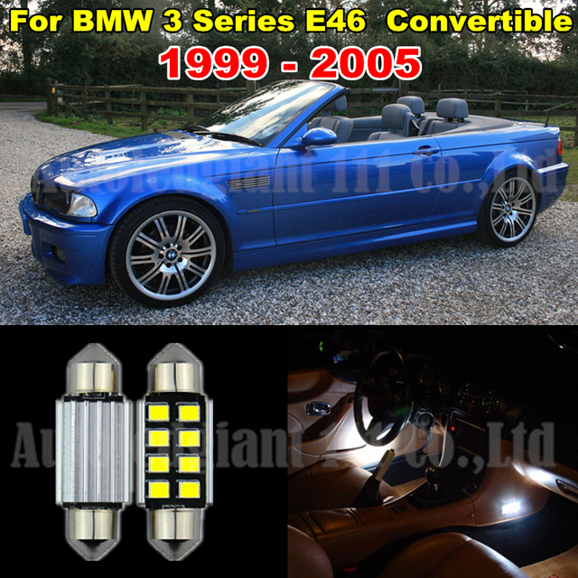 Us 23 88 Pure White Canbus No Error Led Car Light For Bmw 3 Series E46 Led Interior Lighting Kit M3 Convertible Tag Light 1999 2005 10x In Car