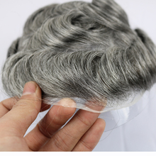 Human-Hair Wig Toupee-Size Simbeauty Skin Men's for The-Stock Around Thin 8--10-Inches