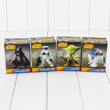 4pcs Darth Vader Yoda R2-D2 Stormtrooper Collectible Action Figures