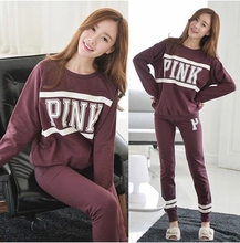 Spring Sport style letters patterns good Cotton maternity clothes big size casual Pajama Sets pajama for pregnant leisure wear