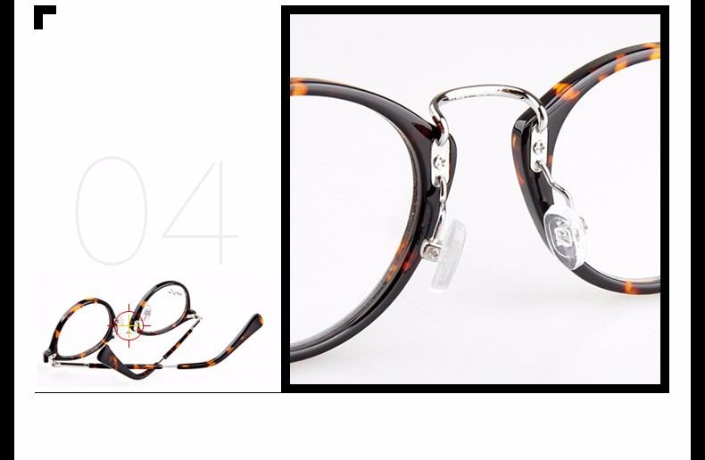 e9d8d02416b Feminino korean round metal frame glasses fashion brand designer ...