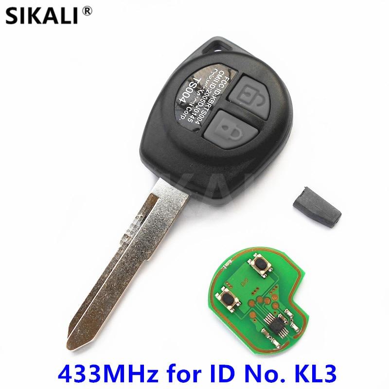 2 buttons Car Remote Key for KL3 ID No. SWIFT SX4 ALTO VITARA IGNIS JIMNY 433.9MHz with ID46 Chip for Suzuki