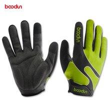 BOODUN Открытый MTB велосипед велосипеды перчатки дышащая противоударный велосипедные перчатки Для мужчин полный пальцы спортивные перчатки Luvas де ciclismo