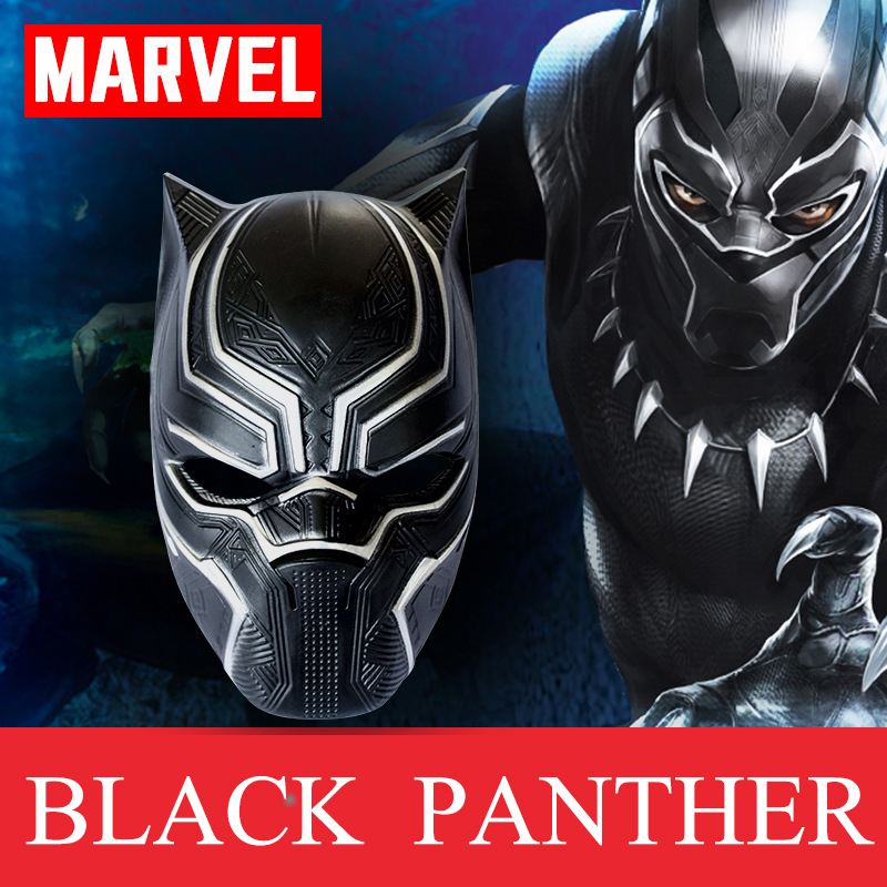 Black Panther Mask Marvel Movie Super Hero Savior Mask Helmet Cosplay Costume Halloween Party Masquerade Decoration Props