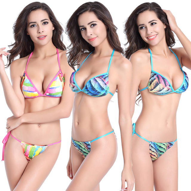 24c469d8e7 SWIMMART Copyright Extreme Bikini Women s Sexy Micro Mini Bikini Set Thong  Bottom Bathing Suit Brazilian Bikini
