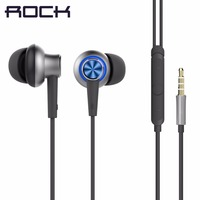 ROCK Y5 In Ear Stereo Earphone In Line Control With Mic Luxury Headset 3 5mm Earbuds