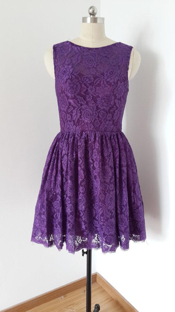 Aliexpress.com : Buy Elegant Purple Maid of Honor Dresses Vintage ...